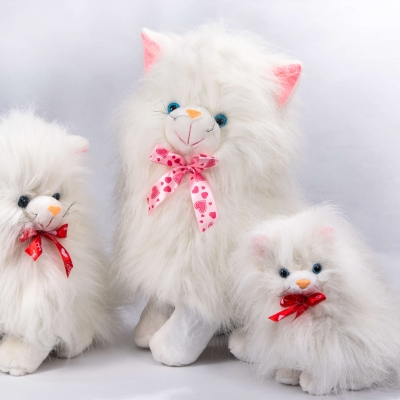Котик сидячий білий