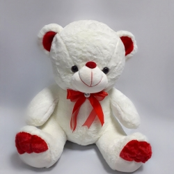 Мишка с красной лентой