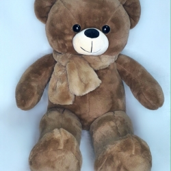 Ведмедик мутоновий з шарфом
