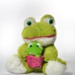 Жабка з жабеням
