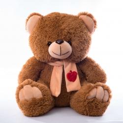 Ведмедик з шарфом сидячий